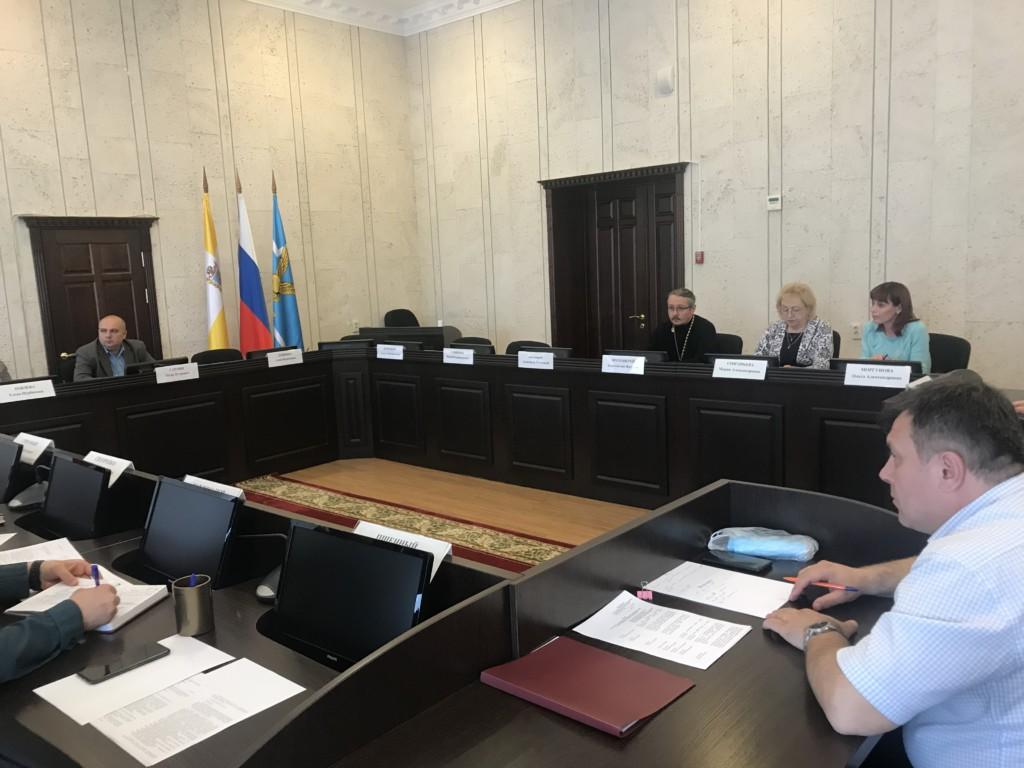 Настоятель храма преподобного Сергия Радонежского г. Лермонтова выступил на Совете безопасности.